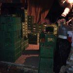 Packstation dann am Abend mit ca. 140 Kisten